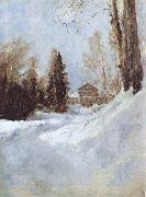 Valentin Serov Winter in Abramtsevo A House oil painting picture wholesale
