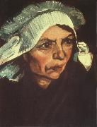 Vincent Van Gogh Head of a Peasant Woman with White Cap (nn04) oil painting picture wholesale