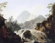 unknow artist A Cascade in the Tuauru Valley,Tahiti oil painting picture wholesale