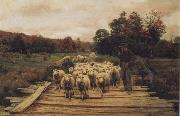 A. Bryan Wall Shepherd and Sheep oil painting picture wholesale