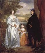 Anthony Van Dyck James Seventh Earl of Derby,His Lady and Child oil painting picture wholesale