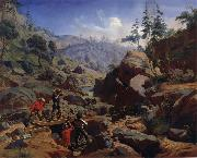 Charles Christian Nahl and august wenderoth Miners in the Sierras oil painting picture wholesale