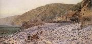 Charles Napier Hemy Among the Shingle at Clovelly oil painting picture wholesale