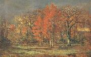 Charles leroux Edge of the Woods,Cherry Tress in Autumn oil painting picture wholesale