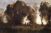 Corot Camille The dance of the nymphs oil painting picture wholesale