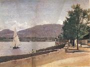Corot Camille The quai give paquis in geneva oil