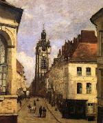 Corot Camille The bell tower of Doual oil painting picture wholesale