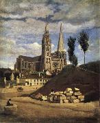 Corot Camille The Cathedral of market analyses oil painting picture wholesale