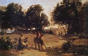 Corot Camille Homero and the shepherds oil painting picture wholesale