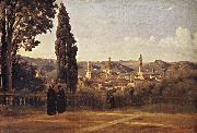 Corot Camille Florence Since the Gardens of Boboli oil painting picture wholesale