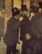 Edgar Degas In the Bourse oil painting picture wholesale