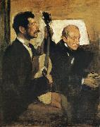 Edgar Degas Artist-s Father and Pagand oil painting picture wholesale