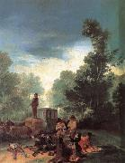 Francisco Goya Highwaymen Attacking a Coach oil painting picture wholesale