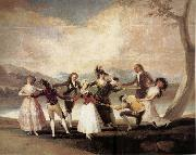 Francisco Goya La Gallina Ciega oil painting picture wholesale