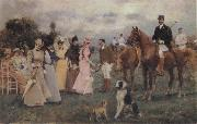 Francisco Miralles Y Galup The Polo Match oil painting picture wholesale