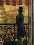 Gustave Caillebotte The view watched from  balcony oil painting picture wholesale