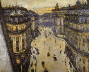 Gustave Caillebotte Look down from sixth floor oil painting picture wholesale