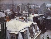 Gustave Caillebotte Snow-s housetop oil painting picture wholesale