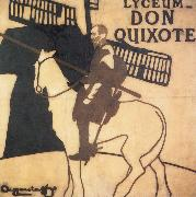 James Pryde and William Nicholson Don Quixote oil painting