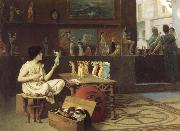 Jean-Leon Gerome Painting Breathes Life Into Sculpture oil painting artist
