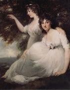 John Hoppner The Ladies Sarah and Catherine Bligh oil painting picture wholesale