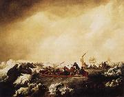 John Webber A Party from the Resolution shooting Sea-Horses oil painting picture wholesale