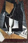 Juan Gris Bottle Cup and newspaper oil painting picture wholesale