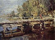 Konstantin Korovin Bridge in the autumn scenery oil painting picture wholesale