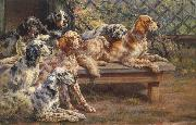 Osthaus, Edmund Henry Seven English Setters oil painting picture wholesale
