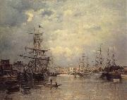 Stanislas lepine The Port of Caen oil painting artist