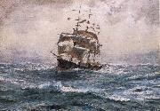 Thomas Somerscales A Ship running before a Gale oil painting picture wholesale