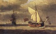VELDE, Willem van de, the Younger The Yacht Royal Escape Close-hauled in a Breeze oil painting picture wholesale