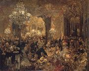 Adolph von Menzel Ball Supper oil painting picture wholesale