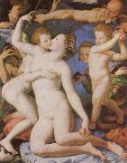 Agnolo Bronzino An Allegory with Venus and Cupid oil
