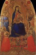 Ambrogio Lorenzetti Madonna and Child Enthroned with Angels and Saints oil painting picture wholesale