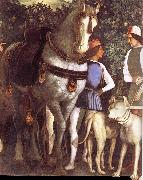 Andrea Mantegna Servant with horse and dog oil painting picture wholesale