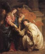 Anthony Van Dyck The mystic marriage of the Blessed Hermann Foseph with Mary oil painting picture wholesale