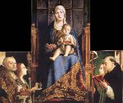 Antonello da Messina Madonna with SS Nicholas of Bari,Anastasia oil painting picture wholesale