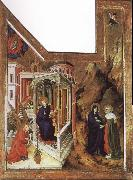 BROEDERLAM, Melchior Annunciation and Visitation oil painting picture wholesale