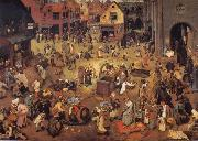 BRUEGEL, Pieter the Elder The fright between Carnival and Lent oil painting picture wholesale