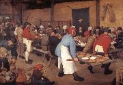 BRUEGEL, Pieter the Elder Peasant wedding oil painting picture wholesale