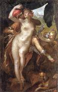 Bartholomaus Spranger Venus and Adonis oil painting