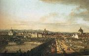 Bernardo Bellotto Vienna,Seen from the Belvedere Palace oil painting picture wholesale