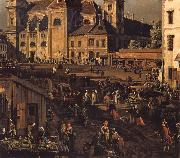 Bernardo Bellotto The Freyung in Vienna from the south-east oil