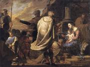 Bernardo Cavallino The adoration of the Magi oil painting artist