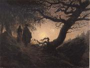 Caspar David Friedrich Man and Woman contemplating the Moon oil painting picture wholesale