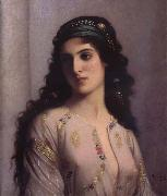 Charles Landelle Jewish Girl in Tangiers oil painting artist