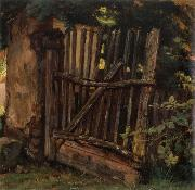 Christian Friedrich Gille Garden Gate oil painting artist