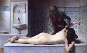 Edouard Debat Ponsan The Massage Scene from the Turkish Baths oil painting artist