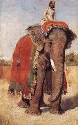 Edwin Lord Weeks A State Elephant at Bikaner Rajasthan oil painting picture wholesale